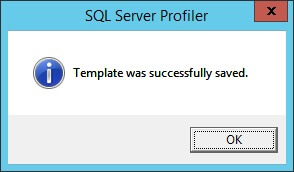 SQL Profiler - Save Successful
