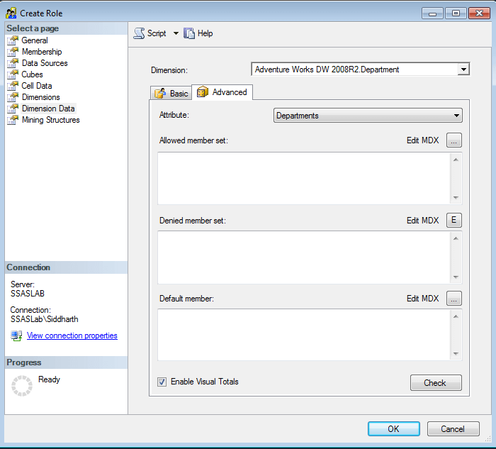 Confiugre the Enable Visual Totals option in SQL Server Analysis Services