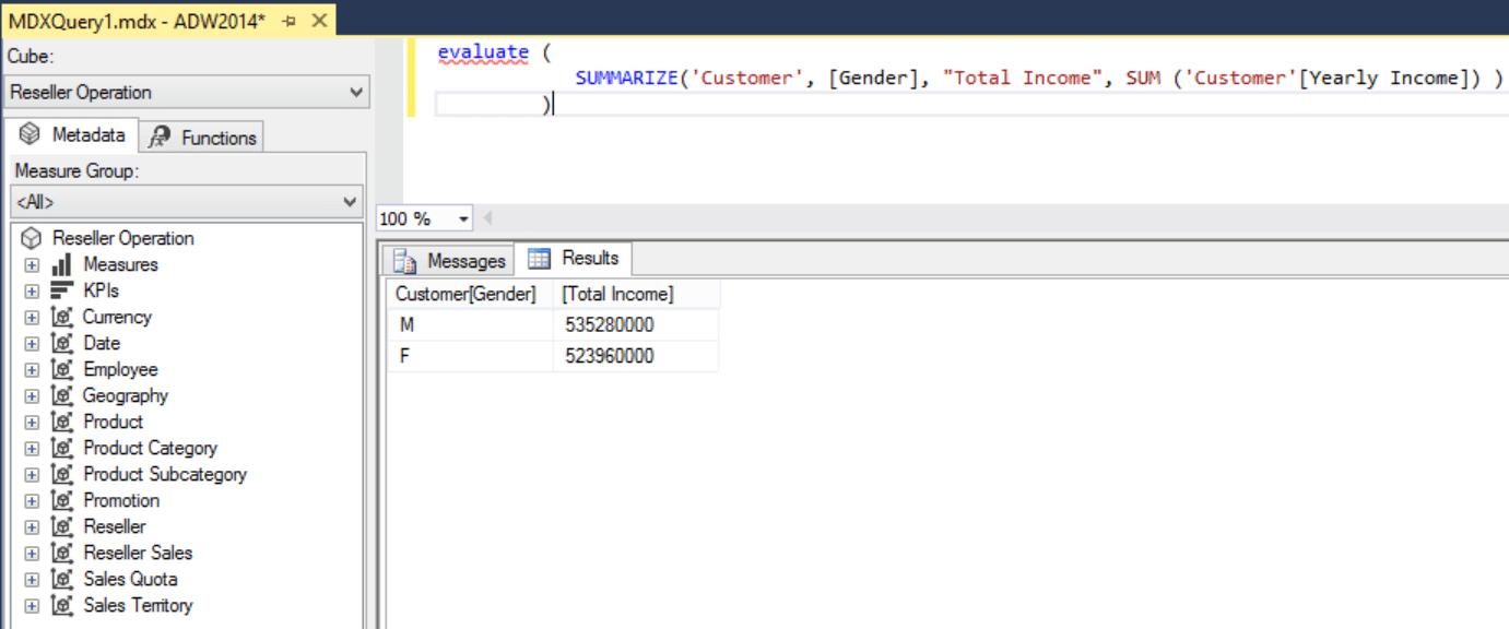 SQL Server DAX Summarizing Data