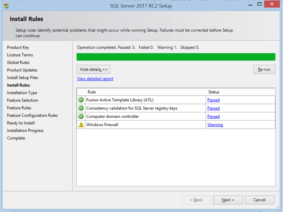 SQL Server 2017 RC2 Setup - Description: SQL Server 2017 RC2 Setup