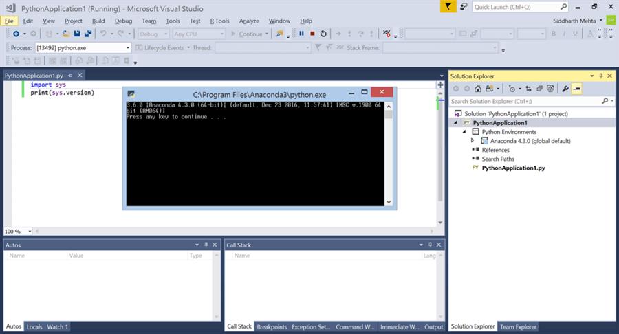 Python Project in Visual Studio - Description: Python Project