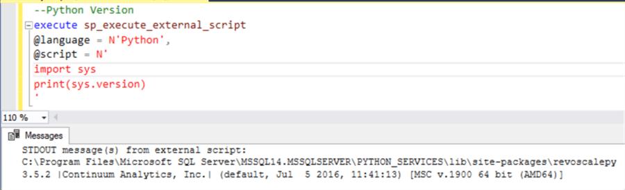 SSMS Python Testing - Description: SSMS Python Testing