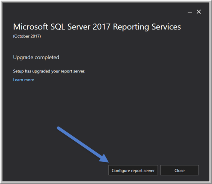 SQL Server Reporting Services SSRS 2017 Installation and