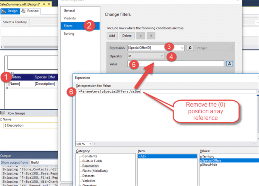 SQL Server Reporting Services SSRS 2017 Parameters