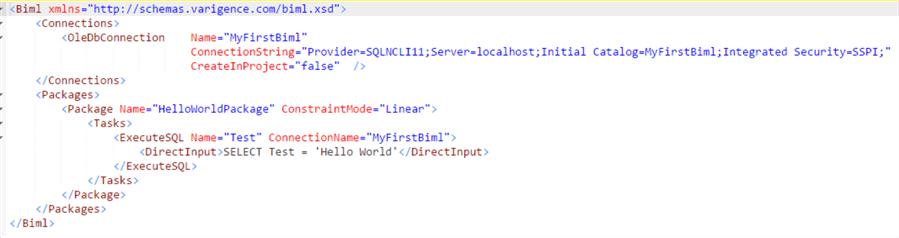 简单的Biml文件