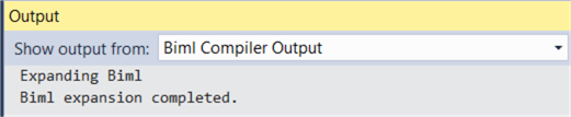 output window
