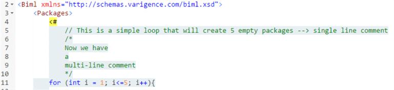 BimlScript中的评论