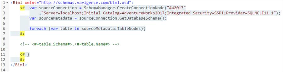 读取数据库架构