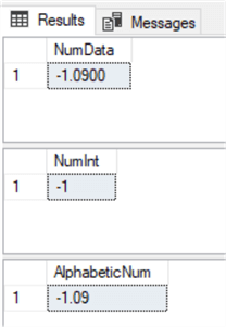 Precise Numerical Filtering With Regular Expressions for T-SQL