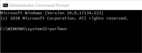 run perfmon from command line