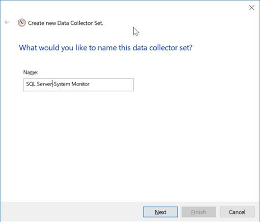 Create Windows Performance Monitor Data Collector Set