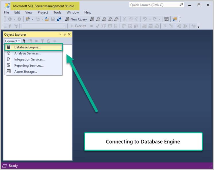 Connecting to Database Engine