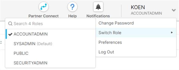 change to account admin