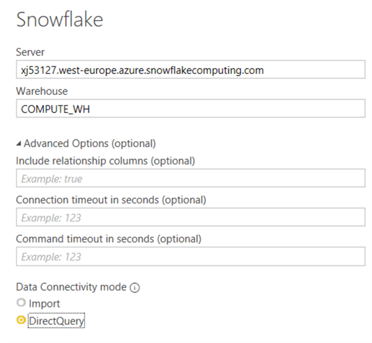 configure server options